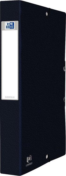 Boîte de classement EUROFOLIO en carte grainée, dos de 40 mm, coloris noir