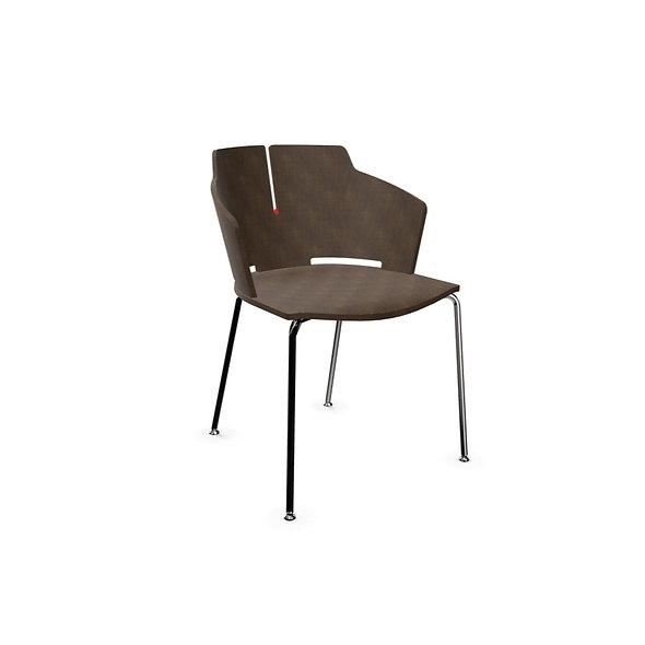 Chaise AGATHE - 4 pieds chromés