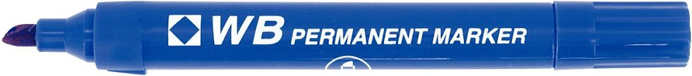 Marqueur permanent WB pointe biseautée bleu