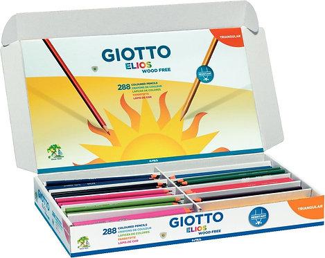 Classpack de 288 crayons de couleur Elios Wood Free  assortis
