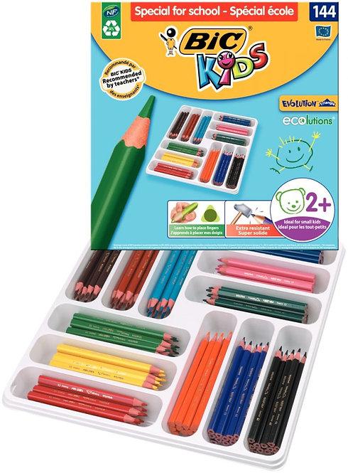Boîte Classpack de 144 crayons de couleur Évolution triangulaires