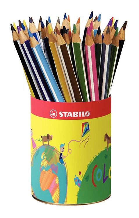 Pot de 38 crayons de couleur triangulaires