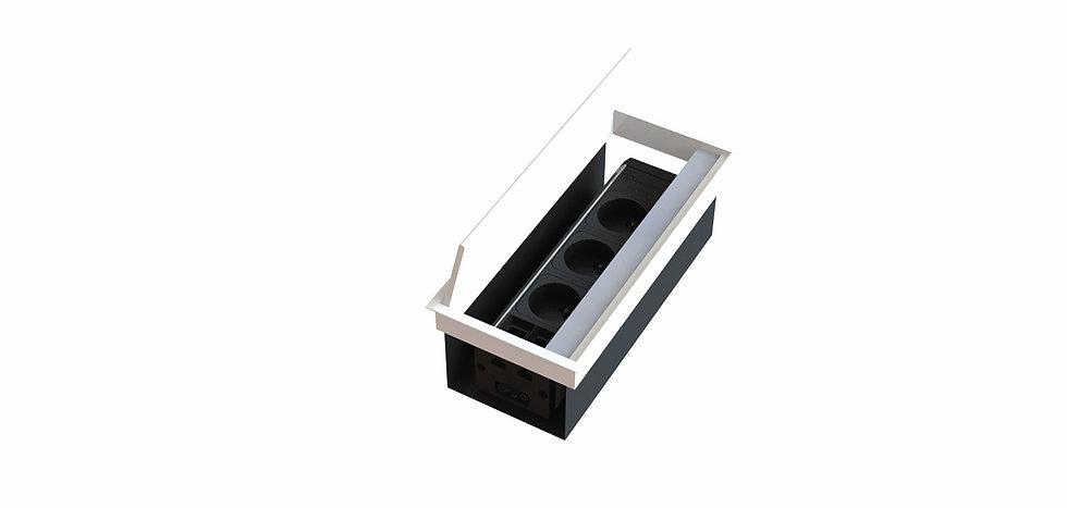 Trappe access aluminium avec bac + boitier intégré - Ouverture des 2 côtés