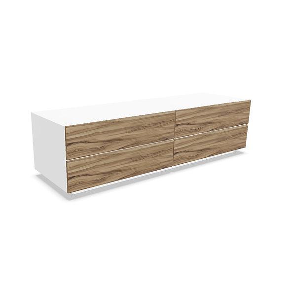 Meuble 4 tiroirs MAST - Structure Blanc Poussière Lunaire