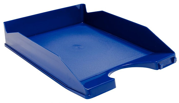 Corbeille à courrier opaque bleu