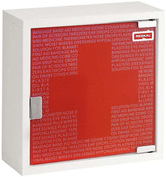 Armoire à pharmacie petit modèle métal/verre trempé rouge