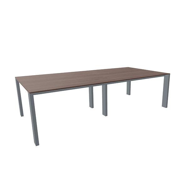 Table de conférence MINIMAX L. 260 cm - Plateau bois - Piétement anthracite