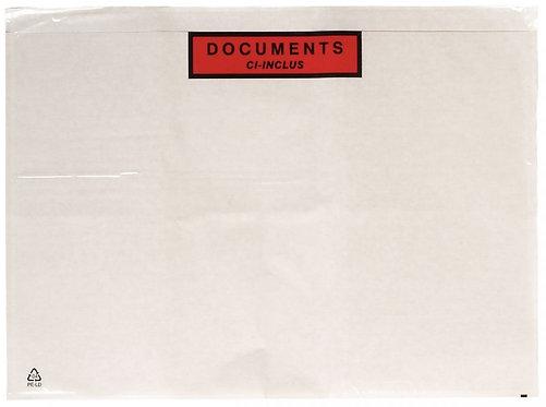 Boîte de 500 pochettes expédition  auto-adhésives documents ci-inclus 315x225mm