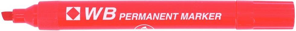 Marqueur permanent WB pointe biseautée rouge