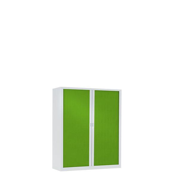 Armoire à rideaux bicolore 100 x 80 cm - Corps blanc - Rideaux Color
