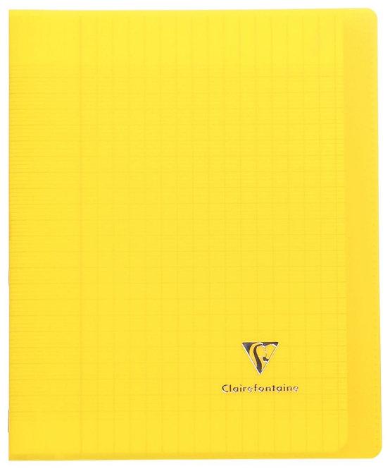 Piqûre 96 pages 17x22 cm KOVERBOOK, seyès 90g Couverture en polypropylène, jaune