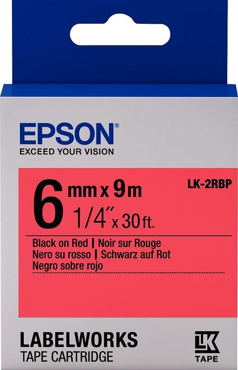 Recharge de ruban Epson LK 6mm x 9 m noir et rouge