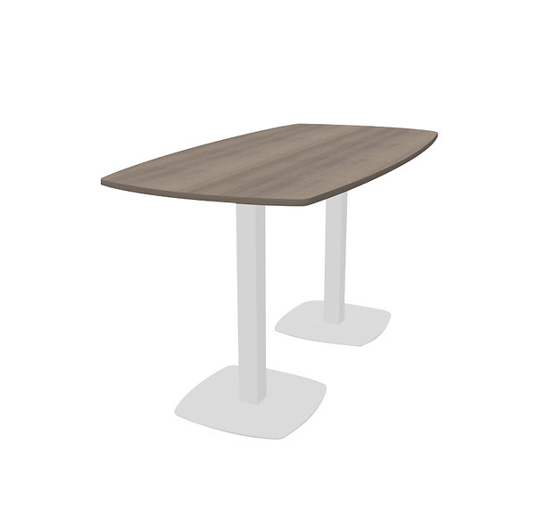 Table haute Workup - Piétement Blanc