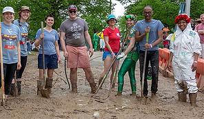 Mud Pit Volunteers for Kinetic Sculpture