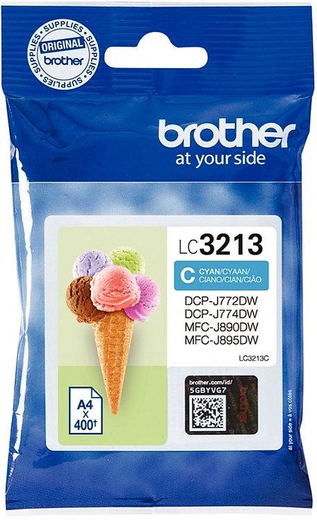 Cartouche encre à la marque Brother LC3213C cyan