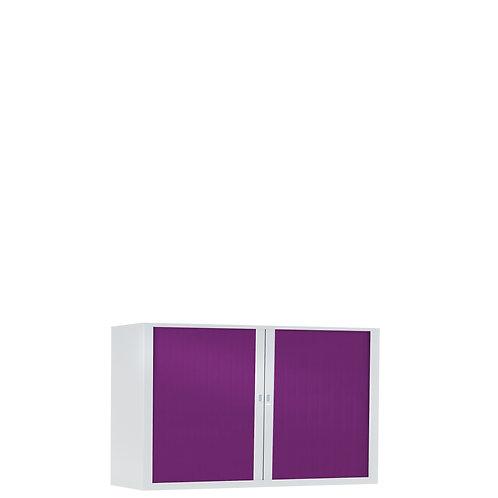 Armoire à rideaux bicolore 69.5 x 100 cm - Corps blanc - Rideaux Color