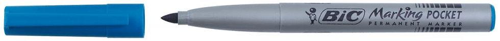 Marqueur permanent Pocket pointe ogive fine 1 mm bleu