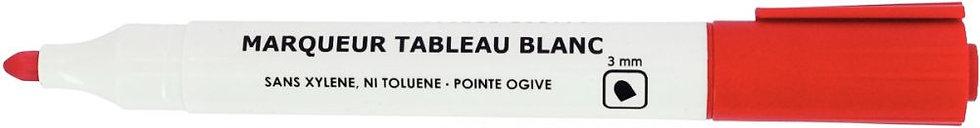 Marqueur tableau blanc pointe ogive 3mm rouge