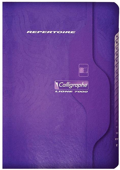 Répertoire piqué 96 pages, format 9 x 14 cm, quadrillé 5x5