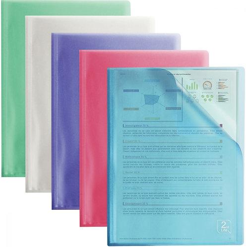 Protège-documents polypropylène 2ND LIFE 20 pochettes A4 coloris assortis