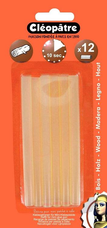 Blister de 12 recharges de colle à bois pour pistolet 56405