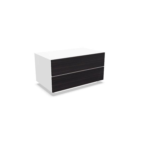 Meuble 2 tiroirs MAST - Structure Blanc Poussière Lunaire