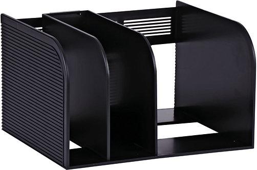 Porte-revues 3 compartiments OPTIMO 30x18x25cm noir