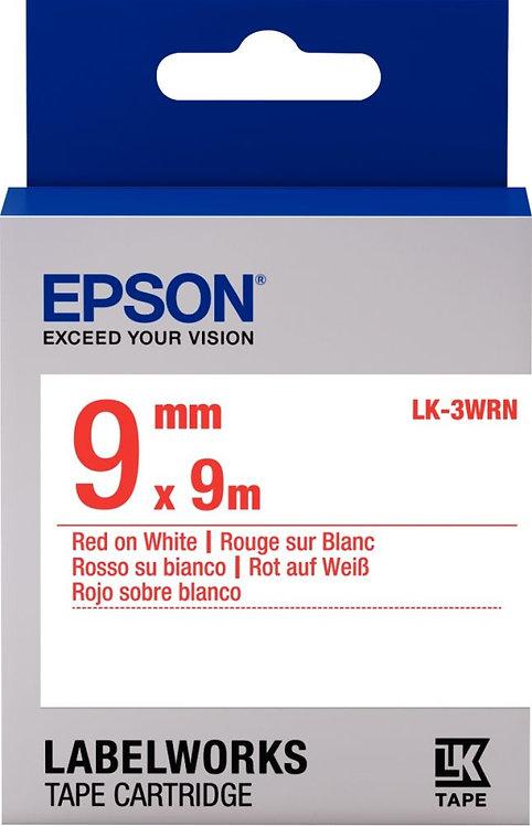 Recharge Epson LK 9mmx9m rouge/blanc