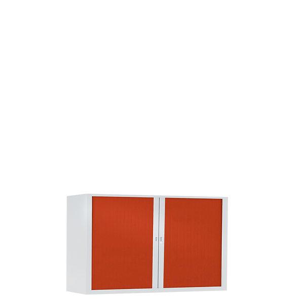 Armoire à rideaux bicolore 69.5 x 120 cm - Corps blanc - Rideaux Color