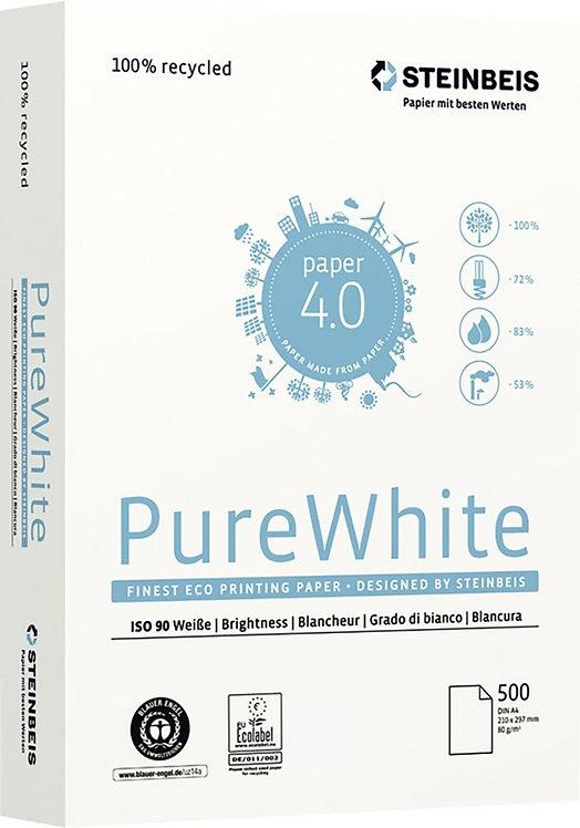 Ramette de 500 feuilles A4 80g blanc PURE WHITE