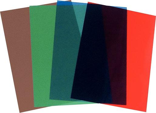 Paquet de 100 couvertures PVC 20/100 A4 assorties