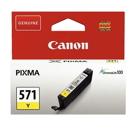 Cartouche jet d'encre à la marque Canon CLI-571Y jaune