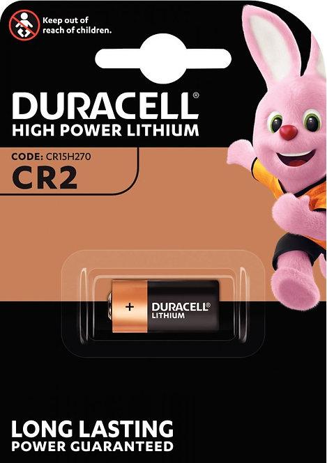 Blister 1 pile Lithium 3 volts. Référence CR2 DURACELL