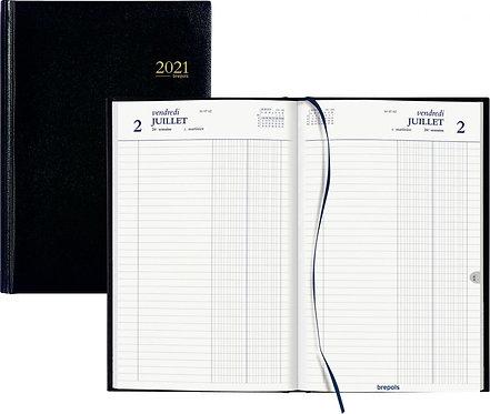 Agenda banque large format 2 volumes long noir