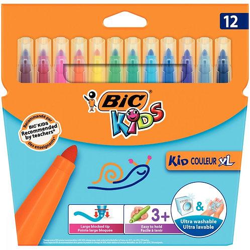 Etui 12 feutres Kid couleurs XL, pointe extra large
