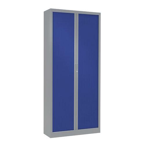 Armoire à rideaux bicolore 198 x 80 cm - Corps Aluminium - Rideaux Color