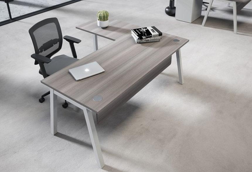 Table de bureau SHARING - Piétement Gris Aluminium