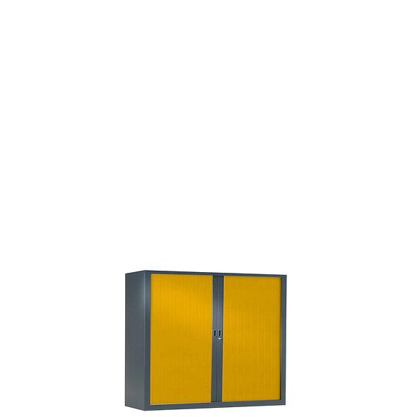Armoire à rideaux bicolore 69.5 x 80 cm - Corps gris anthracite - Rideaux Color