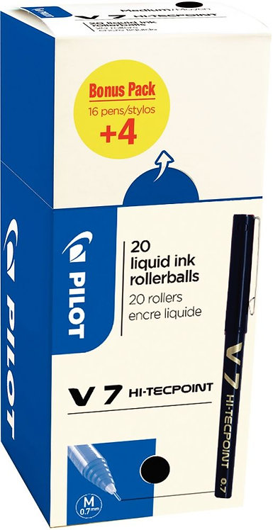 Ecopack 20 rollers V7 noirs dont 4 offerts