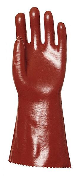 Paire de gants PVC rouge taille 10