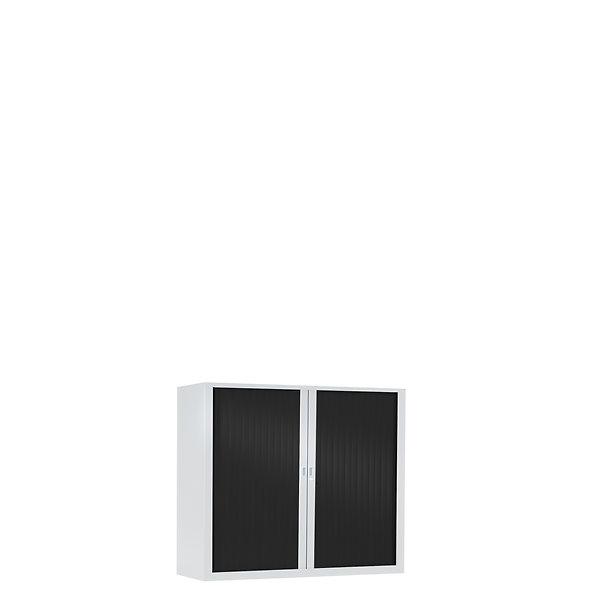 Armoire à rideaux bicolore 69.5 x 80 cm - Corps blanc - Rideaux Color