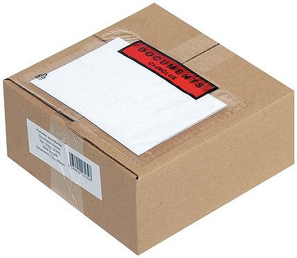 Boîte de 1000 pochettes expédition auto-adhésives documents ci-inclus 120x228mm