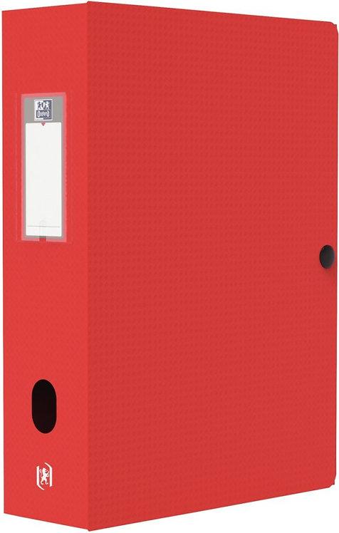 Boite de classement MEMPHIS en polypropylène, dos de 80 mm, coloris rouge