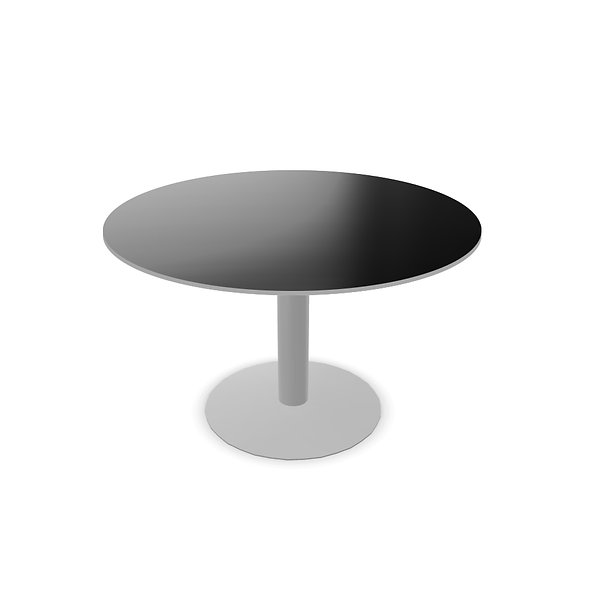 Table de réunion ronde WEST - Piétement Gris aluminium