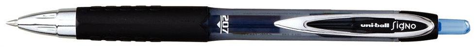 Stylo roller Uniball Signo RT 207 rétractable bleu
