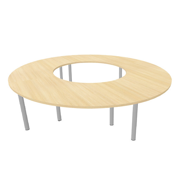 Table ronde Woodwork - Piétement rond - Capacité 12 personnes