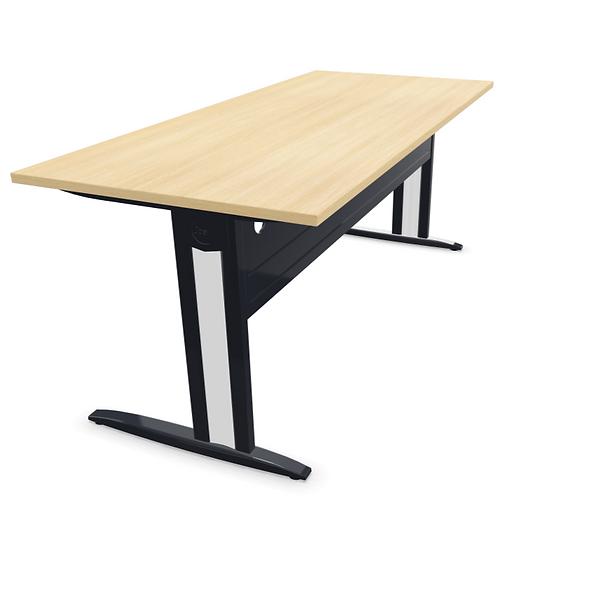 Table de bureau HARRY - Plan droit - Piétement Gris anthracite