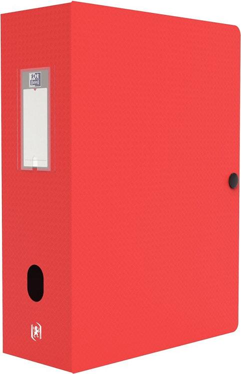 Boite de classement MEMPHIS en polypropylène, dos de 100 mm, coloris rouge