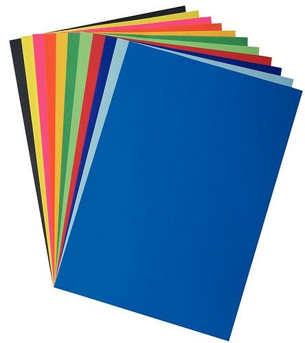 Paquet 25 feuilles affiche couleurs éclatantes 85g 60x80cm vert mousse