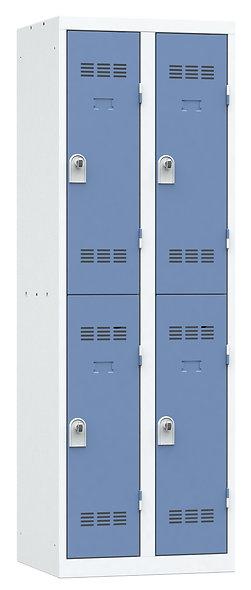Vestiaire multicases - 2 colonnes - 2 cases